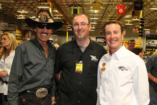 Richard Petty Kurt Busch And Brad Mark At Pole Position Raceway Las Vegas Indoor Go Kart Racing