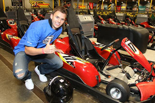 Dan Wheldon was at Pole Position Raceway