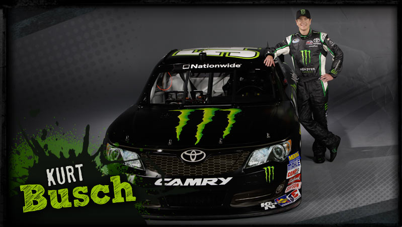 Kurt Busch with Monster Energy