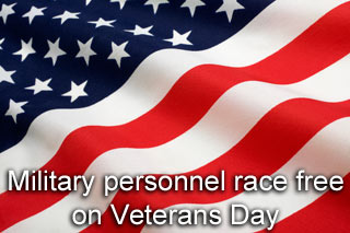 Military personnel race free on veterans day