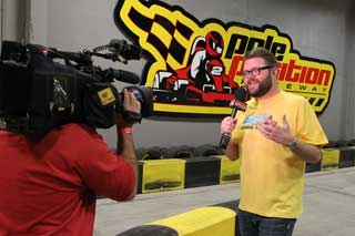Rutledge Wood Filming For Speed Channel At Pole Position Raceway Las Vegas