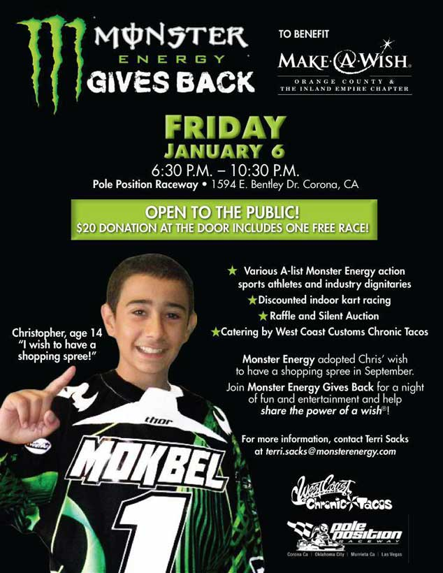 Monster Energy Gives Back
